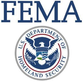 The logo of FEMA - the Federal Emergency Managment Agency that regulates elevation certificates for flooding.